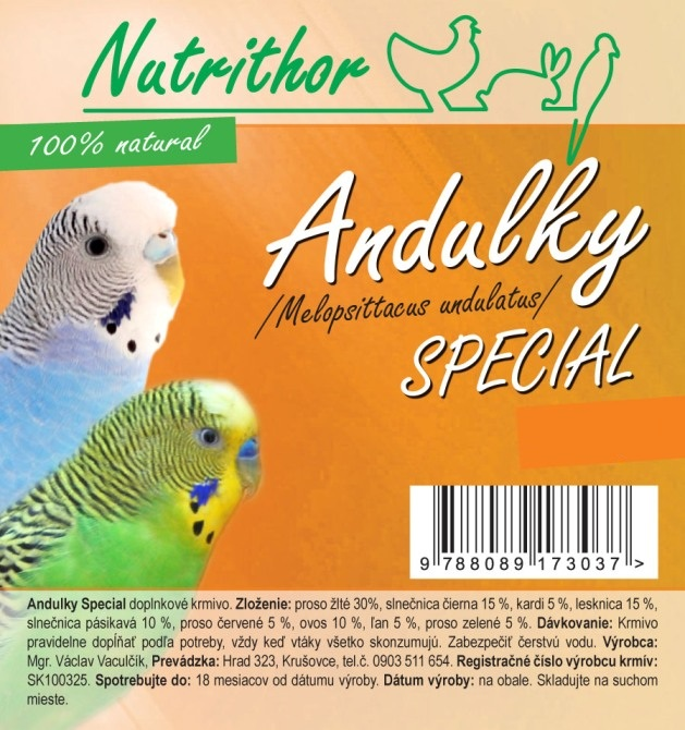 Nutrithor Andulky SPECIAL 10 kg